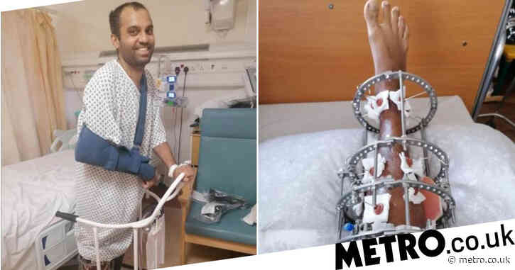 Dad 'blacked out' and woke up one month later in hospital after plunging off cliff