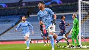 Mahrez goals send Man City to first UCL final