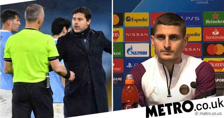 Marco Verratti claims referee told him to 'f**k off' during PSG's Champions League defeat to Manchester City