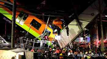 Mexico City metro overpass collapse: Carriages and bridge crumpled