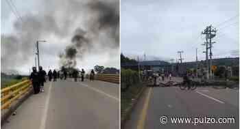 [Video] Con barricadas, fuego y hasta herido, las protestas siguen cerca de Bogotá - Pulzo.com