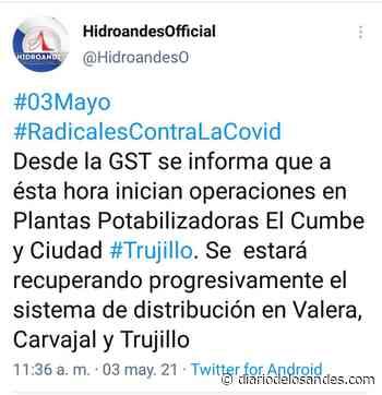 Reactivan operaciones en planta El Cumbe que surte de agua a Valera y Carvajal - Diario de Los Andes