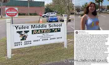 Florida middle school student, 14, suspended for 10 days after she clashed with teachers over outfit