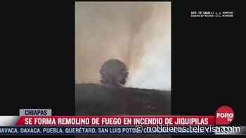 Captan impresionante remolino de fuego en incendio - Noticieros Televisa