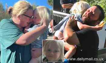 Beautiful moment mother is reunited with her son, 4, after he vanished for 21 hours