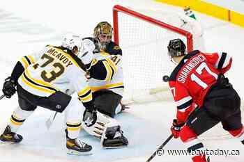 Zacha's 2 goals give Devils 4-3 OT win over Bruins