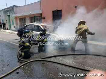 Se incendia un vehículo en la calle 57 de Mérida - El Diario de Yucatán