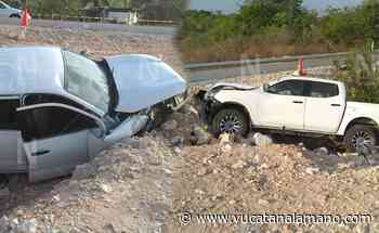 Camioneta se sale del camino y deja un fallecido en la Mérida-Peto. - Yucatán a la mano