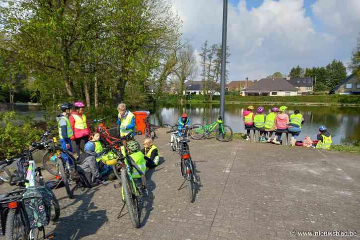 Oudercomité De Klimop stuurt leerlingen op pad met de fiets