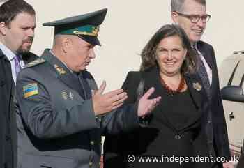 Blinken brings anti-graft message, old Russia foe to Ukraine