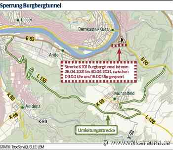 Wartungsarbeiten im Burgbergtunnel in Bernkastel-Kues - Trierischer Volksfreund