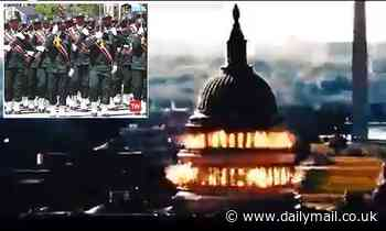 Iran airs chilling fake propaganda video showing a missile blowing up the US Capitol
