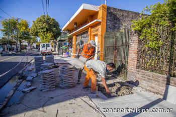 San Isidro: nuevas veredas para comercios de Beccar - Zona Norte Visión