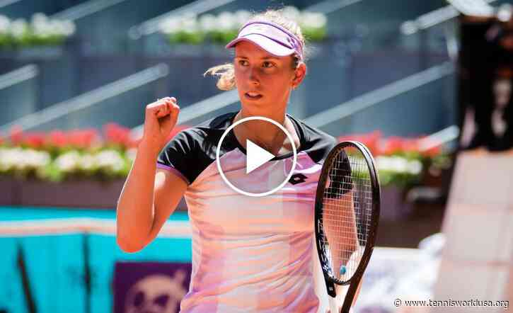 WTA Madrid 2021: Mertens vs Halep's HIGHLIGHTS