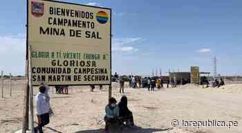 Sechura: comuneros protestan por presuntas irregularidades en mina de sal lrnd - LaRepública.pe