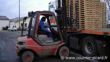 Le chef d'entreprise chute de son chariot élévateur à Roye - Courrier Picard