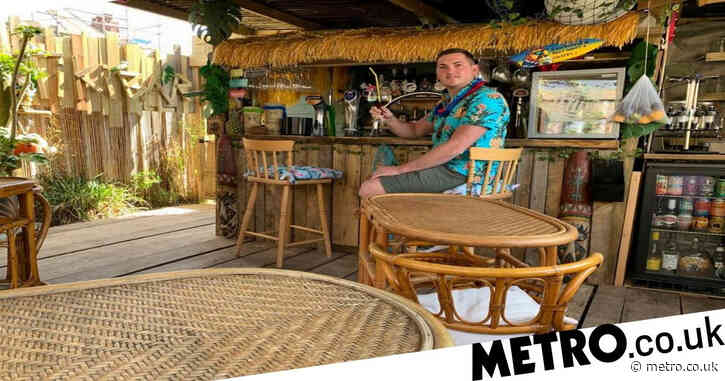 Dad creates brilliant home tiki bar in his garden for just £800 – using stuff he got for free