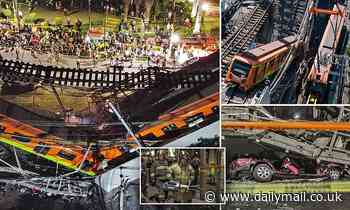 Horror footage shows the moment an overhead subway line in Mexico City collapses and kills 24