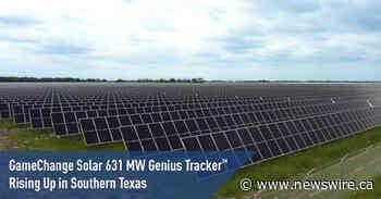 Le système Genius Tracker™ 631 MW de GameChange Solar s'implante dans le sud du Texas