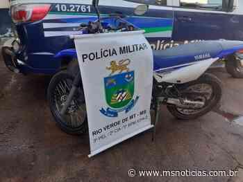 Polícia Militar de Rio Verde recupera moto furtada em de Coxim - MS Notícias