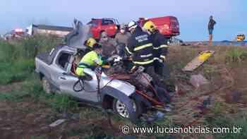 Condutor de Pick-up de Lucas do Rio Verde fica preso nas ferragens em acidente na Br-163 - Lucas Notícias