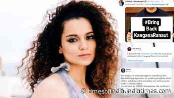 Kangana Ranaut's fans trend #RestoreKangana after suspension of her Twitter account