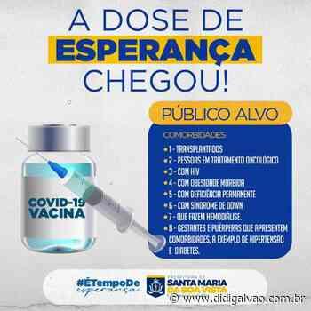 Santa Maria da Boa Vista iniciará vacinação em pessoas com comorbidades - Blog do Didi Galvão