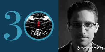 EFF30 Fireside Chat: Surveillance, with Edward Snowden - EFF