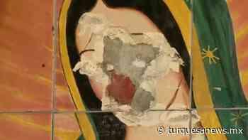 Sujeto vandaliza imagen de la Virgen de Guadalupe y queda captado en video - Turquesa News
