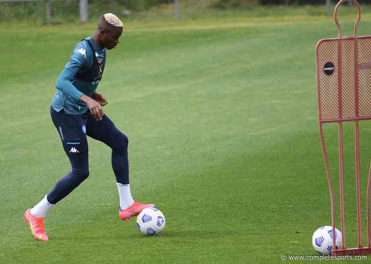 Snapped: Osimhen Back In Training With Napoli  After Nasty Head Injury
