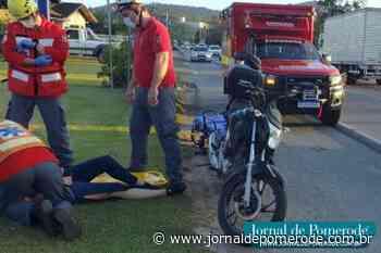 Moto e caminhão se envolvem em acidente, na SC-421 - Jornal de Pomerode