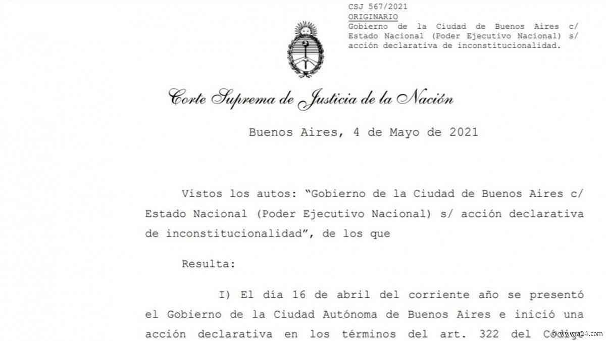 La Corte falló a favor de la Ciudad en el amparo por las clases presenciales - A24.com