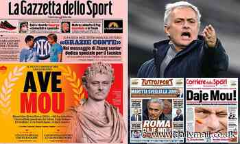 Italian papers react with shock and excitement as Roma announce Jose Mourinho will return to Serie A