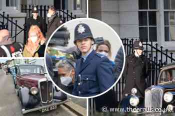 11 pictures as Harry Styles films My Policeman in Brighton