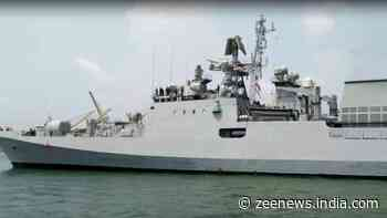 Indian Navy`s INS Talwar reaches Mangalore port with Oxygen from Bahrain