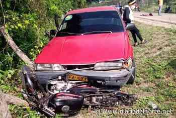Accidente de tránsito entre Albania y Paradero deja dos personas heridas - Diario del Norte.net