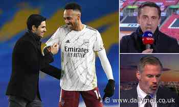 Arsenal: Mikel Arteta defends Pierre-Emerick Aubameyang after Carragher and Neville criticism