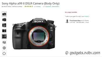 Sony May Have Discontinued Its A-Mount DSLR Cameras, E-Commerce Listing Suggests