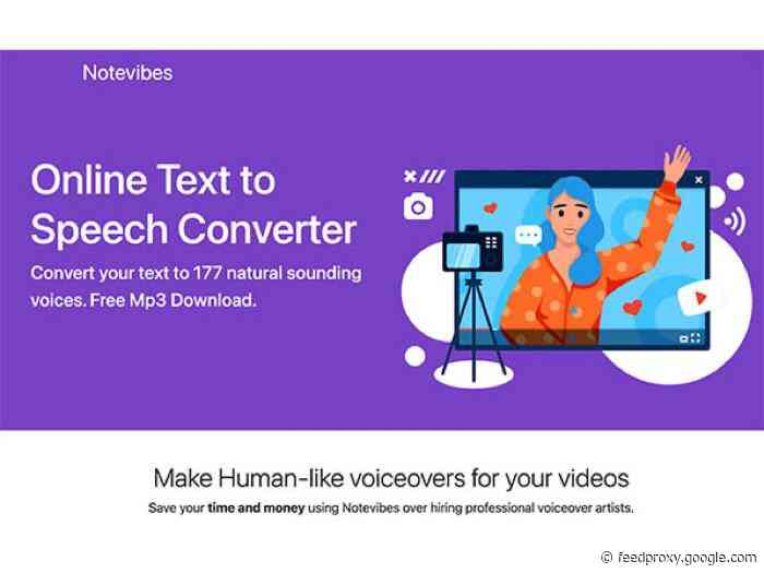 Last Minute Deal: Notevibes Text to Speech Personal Pack Lifetime Subscription, save 87%