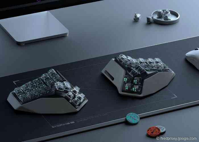 AM HATSU ergonomic split wireless keyboard created by Angry Miao