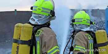 Espenhain: Einsatzkräfte haben Feuer schnell im Griff - Leipziger Volkszeitung