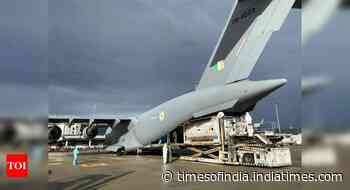 IAF brings 352 empty oxygen cylinders, cryo-containers from abroad