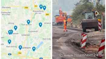 Landkreis Rosenheim: Alle Straßensperrungen bis zum Jahresende 2021 im Überblick