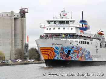 Chi-Cheemaun ferry service delayed indefinitely - Owen Sound Sun Times