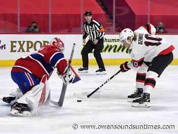 PHOTOS: Senators vs. Canadiens, Saturday, May 1, 2021 - Owen Sound Sun Times