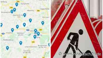 Altötting und Mühldorf: Alle Straßensperrungen bis zum Jahresende 2021 im Überblick