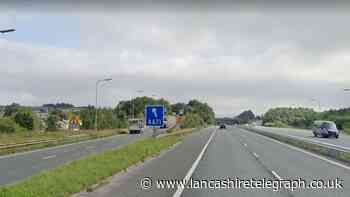 Why junction 10 of the M65 was closed on Sunday night