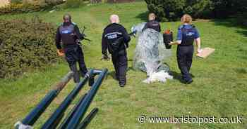 Police raid cannabis tent and 'find address left behind'