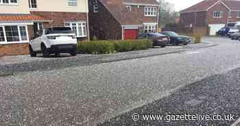 'Mint Imperial-sized' hail stones batter areas of Teesside