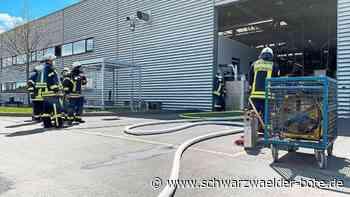 Empfingen - Anlage in der Produktionshalle im Vollbrand - Schwarzwälder Bote